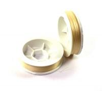 Нить для бисера Титан-100, цвет топленое молоко 2504, катушка 100 метров, толщина 0,1 мм полиэстер 100% 053102 - 99 бусин