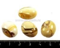Кабошон из натурального камня Яшма овальный  20*15*7 мм, коричневые тона,  1 штука 053135 - 99 бусин