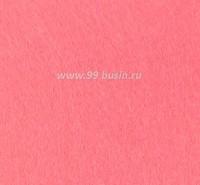 Фетр, материал полиэстр, цвет коралл (№ 20),  30*20 см,  толщина 1 мм,  1 лист 053389 - 99 бусин