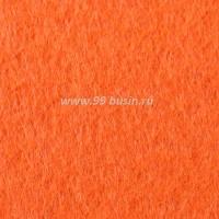 Фетр, материал полиэстр, цвет ярко-оранжевый (№ 18),  30*20 см,  толщина 1 мм,  1 лист 053398 - 99 бусин