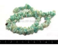 Натуральный камень АМАЗОНИТ крошка 5*6, 6*10 мм Короткая  нить 43 см/нить 053416 - 99 бусин