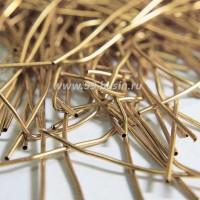Канитель (французская проволока бульонка) гладкая 1 мм, цвет античное золото, пр-во Индия, упаковка 5 грамм (разные отрезки, общая длина около 1,9 метров) 053514 - 99 бусин