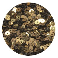Мини пайетки плоские 3 мм Antique Gold Color Crystal finish № 389 Индия 3 грамма (около 1000 штук) 053689 - 99 бусин