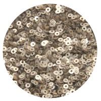 Мини пайетки плоские 3 мм Antique Light Gold Color Pearl finish № 397 Индия 3 грамма (около 1000 штук) 053690 - 99 бусин