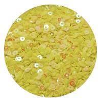 Мини пайетки плоские 4 мм Aurora Yellow  № 821 Индия 3 грамма (около 800 штук) 053712 - 99 бусин