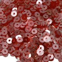 Мини пайетки плоские 4 мм Chili Pepper Crystal Finish № 1469 Индия 3 грамма (около 800 штук) 053714 - 99 бусин