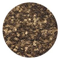 Пайетки плоские 4 мм Antique Gold Color Pearl Finish № 829 Индия 5 грамм (около 1300 штук) 053829 - 99 бусин
