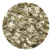 Мини пайетки плоские 2,5 мм Light Gold Velvet Finish №830 Индия 3 грамма (около 1200 штук) 055915 - 99 бусин