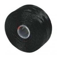 Нить Superlon (S-lon) AA цвет Black катушка 68,58 метров 053862 - 99 бусин