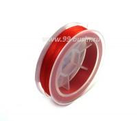 Нить для бисера Титан-100 цвет красный 2520 катушка 100 метров, толщина 0,1 мм полиэстер 100% 053914 - 99 бусин