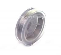 Нить для бисера Титан-100 цвет серый №2675 катушка 100 метров, толщина 0,1 мм полиэстер 100% 053915 - 99 бусин
