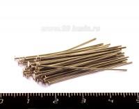 Пины гвоздики 35*0,7 мм, цвет никель 40 штук/упаковка 054089 - 99 бусин