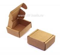 Коробочка сборная № 1 из гофрокартона толщиной 1,5 мм, размер 45*45*20 мм 1 штука 054093 - 99 бусин