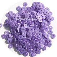 Мини пайетки плоские 4 мм Light Purple № 1502 Индия 3 грамма (около 800 штук) 054154 - 99 бусин