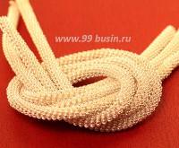 Французская проволока (канитель) витая спираль 3,5 мм, цвет светлое серебро, пр-во Индия, упаковка 5 граммов (разные отрезки, общая длина около 22-24 см.) 054165 - 99 бусин