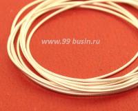 Канитель гладкая жесткая 1 мм, цвет светлое серебро MS-01, пр-во Индия, упаковка 5 граммов (разные отрезки, общая длина около 1,35 метров) 054172 - 99 бусин