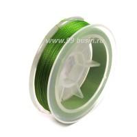 Нить для бисера Титан-100 цвет зеленый травяной №2576 катушка 100 метров, толщина 0,1 мм полиэстер 100% 054179 - 99 бусин