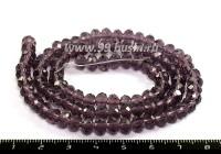Бусина хрустальная на нити 6*4 мм, фиолетовый около 100 штук/нить 054190 - 99 бусин
