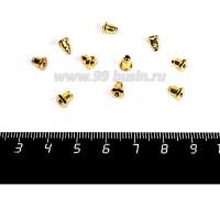 Заглушки для пуссет металлические, цвет золото, 5 пар/упаковка 054236 - 99 бусин