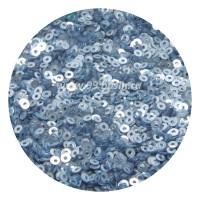 Мини пайетки плоские 2.5 мм  № 847 Dream Blue Color Sequins Индия 3 грамма (около 1200 штук) 054262 - 99 бусин