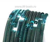 Пайетки плоские 5 мм Италия на нити Turchese цвет бирюзовый металлик 1000 штук 054334 - 99 бусин