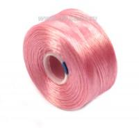 Нить Superlon (S-lon) AA цвет Pink катушка 68,58 метров 054385 - 99 бусин
