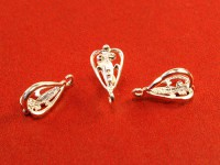 Держатель для кулона Ажурное сердце 16*8*8 мм серебро 925 (sterling silver) светлое 1 штука 054507 - 99 бусин