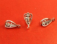 Держатель для кулона Ажурное сердце 16*8*8 мм оксидированное серебро 925 (sterling silver) 1 штука 054508 - 99 бусин