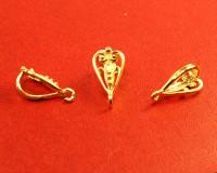 Держатель для кулона Ажурное сердце 16*8*8 мм позолоченное (0,45 мк) серебро 925 (sterling silver) 1 штука 054509 - 99 бусин