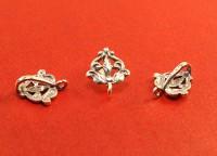 Держатель для кулона Барокко 17*14*8 мм оксидированное серебро 925 (sterling silver) 1 штука 054512 - 99 бусин