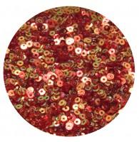 Мини пайетки плоские 3 мм Scarlet Red Color Crystal Finish № 840 Индия 5 грамм (около 1600 штук) 054525 - 99 бусин