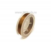 Нить для бисера Титан-100 цвет орех 2602 катушка 100 метров, толщина 0,1 мм полиэстер 100% 054533 - 99 бусин