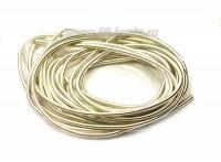 Канитель гладкая матовая 1 мм цвет серебро MK-01, Индия, упаковка около 2,5 м/5 грамм 054546 - 99 бусин