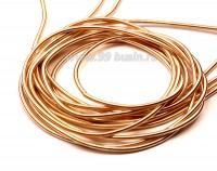 Канитель гладкая матовая 1 мм цвет светлое розовое золото MK-02  упаковка около 2,5 м/5 граммов 054549 - 99 бусин