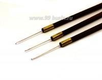 Крючок тип В для Индийской вышивки бисером и пайетками, игла 0,5*23 мм, деревянная ручка 8 см 054552 - 99 бусин