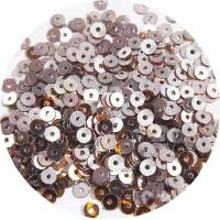 Мини пайетки плоские 3 мм Rain Drum Colour Pearl Finish Sequins № 1488 Индия 3 грамма (около 1000 штук) 054752 - 99 бусин