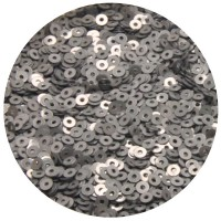 Мини пайетки плоские 4 мм Silver Grey Color Sequins № 382 Индия 3 грамма (около 800 штук) 054754 - 99 бусин