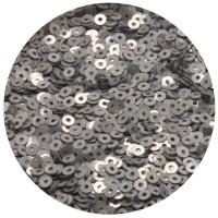 Мини пайетки плоские 3 мм Silver Grey Color Sequins № 382 Индия 5 грамм (около 1600 штук) 054755 - 99 бусин