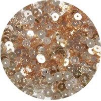 Мини пайетки плоские 3 мм Nougat Color Cristal Finish Sequins №1489 Индия 3 грамма (около 1000 штук) 054756 - 99 бусин
