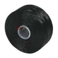 Нить Superlon (S-lon) D цвет Black, толщина 0,11 мм, катушка 71.3 метров 054836 - 99 бусин