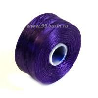 Нить Superlon (S-lon) AA цвет purple катушка 68.58 метров 054843 - 99 бусин