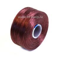 Нить Superlon (S-lon) AA цвет Burgundy катушка 68.58 метров 054846 - 99 бусин