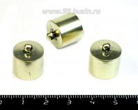 Колпачок концевик для вклейки 16*14 мм с петелькой, внутренний диаметр 13,5 мм, цвет светлая бронза 1 штука 054865 - 99 бусин