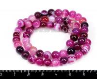 Натуральный камень АГАТ колорированный, бусина круглая 6 мм, розовые тона около 37 см/нить 055042 - 99 бусин