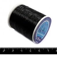 Мононить Гамма цвет чёрный 0,15 мм 100% нейлон катушка 250 метров 055318 - 99 бусин