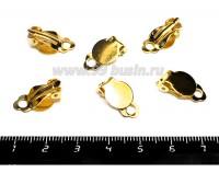 Основа для клипс Гладкая площадка 10 мм, цвет золото, 3 пары/упаковка 055339 - 99 бусин