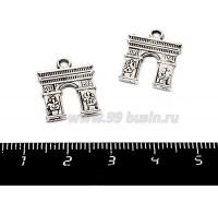 Подвеска Триумфальная арка 18*14 мм, цвет старое серебро, 2 штуки/упаковка 055375 - 99 бусин