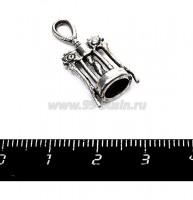 Подвеска Штопор 27*11 мм, цвет старое серебро 1 штука 055385 - 99 бусин