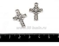 Подвеска Кельтский крест 25*14 мм цвет старое серебро 2 штуки/упаковка 055403 - 99 бусин