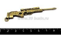 Подвеска Снайперская винтовка 76*18 мм двухсторонняя, цвет бронза 1 штука 055409 - 99 бусин